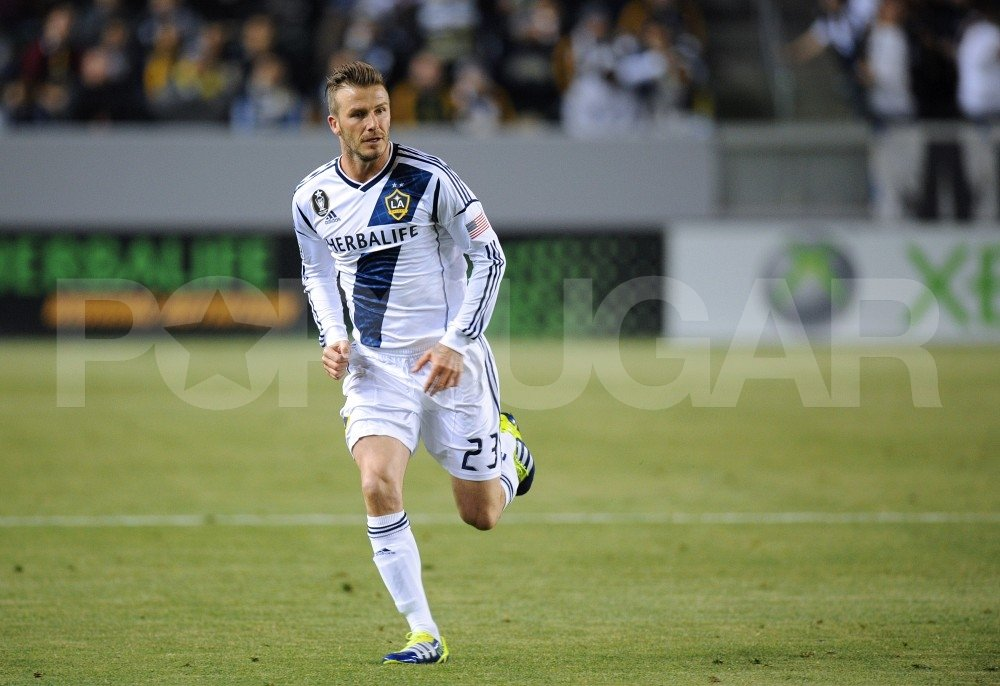 David Beckham in his LA Galaxy uniform.