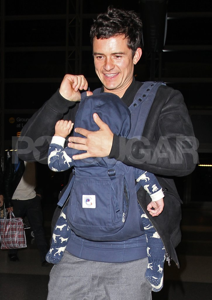 Orlando Bloom and son Flynn Bloom arrived at LAX.
