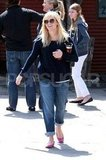 Pregnant Reese Witherspoon smiled in LA.