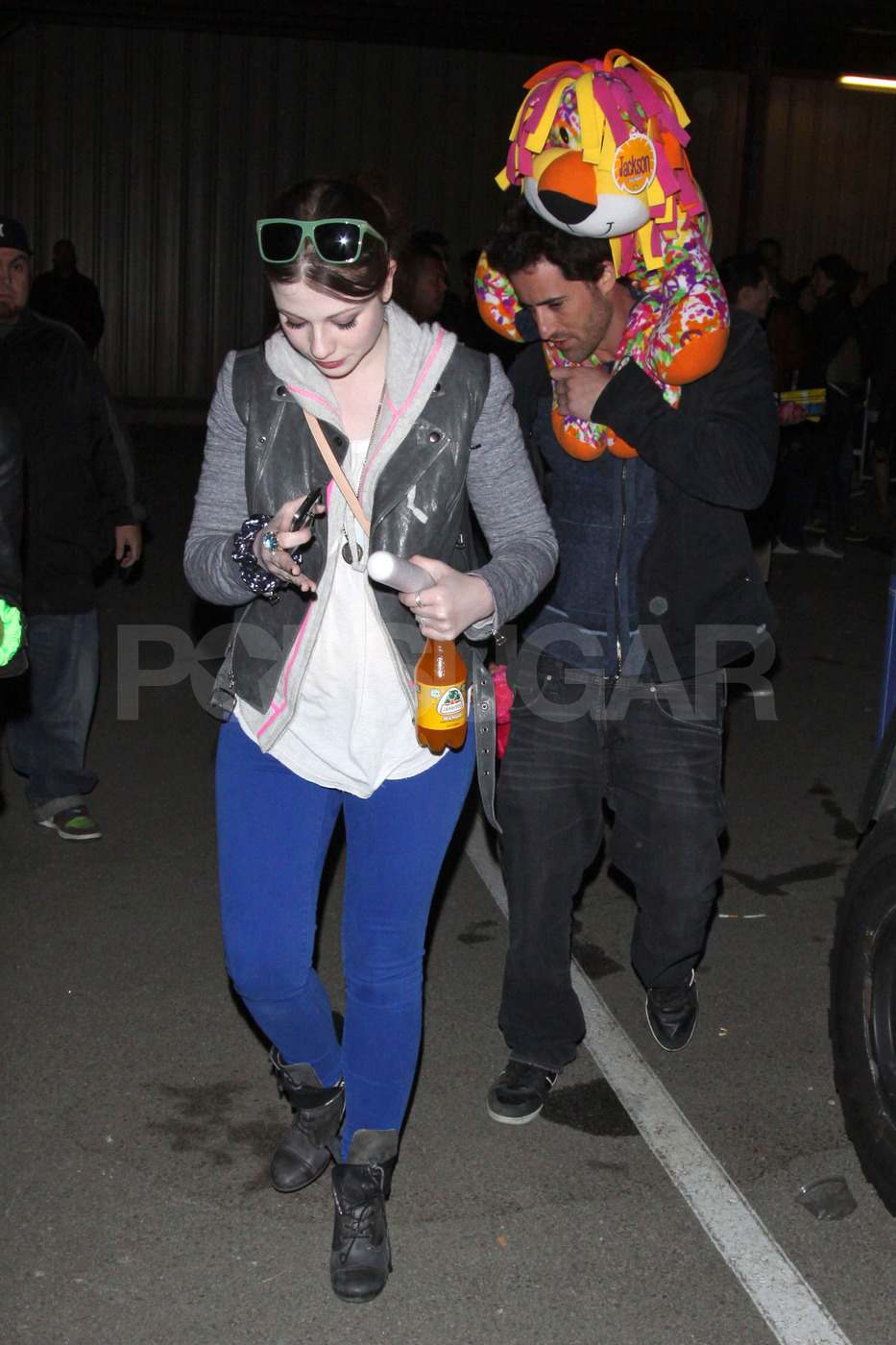 Michelle Trachtenberg hung out at Neon Carnival on Saturday.