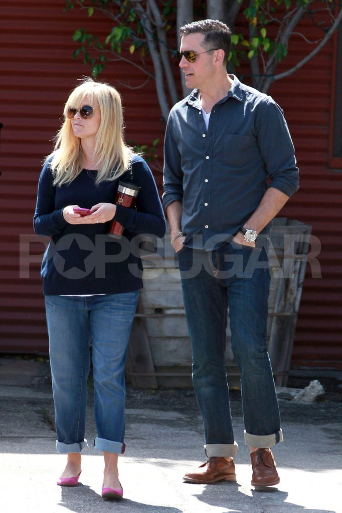 Pregnant Reese Witherspoon and her husband Jim Toth spent Sunday together.