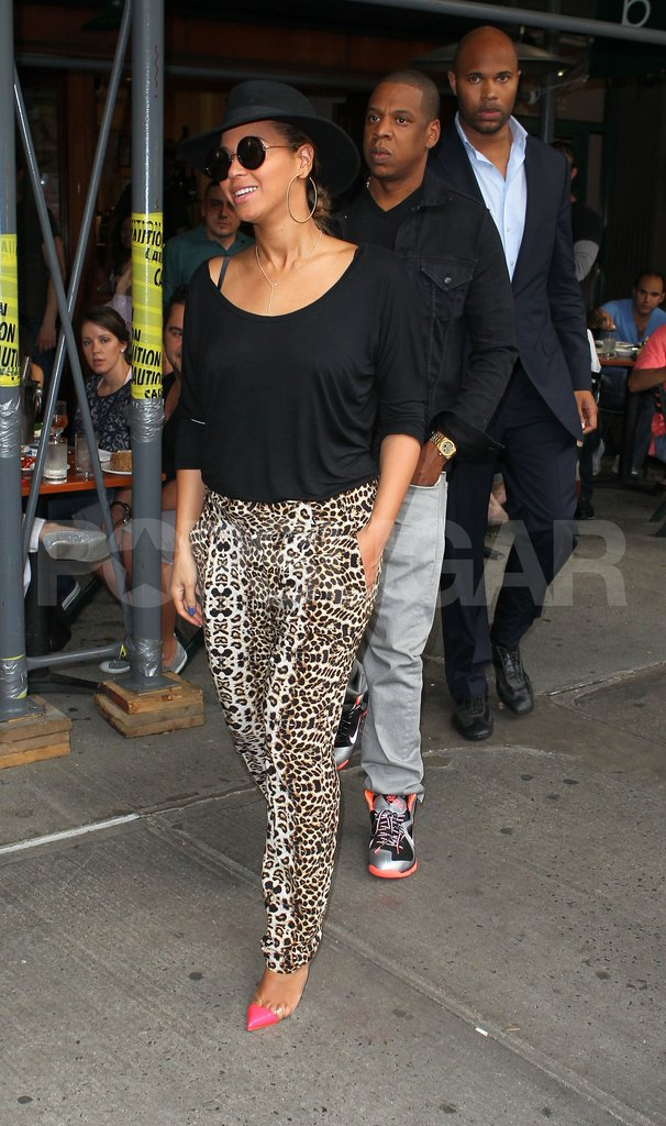 Beyoncé Knowles and Jay-Z lunched at Bar Pitti.