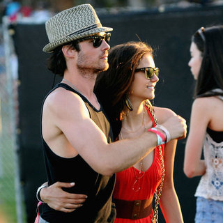 Nina Dobrev and Ian Somerhalder at Coachella Pictures 2012