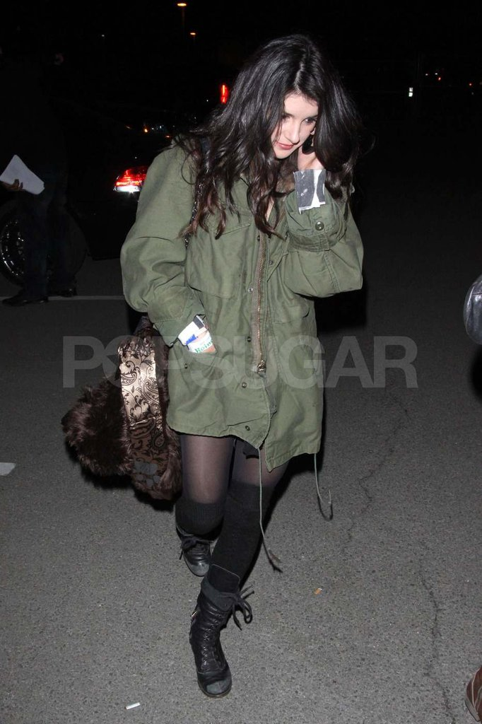 Shenae Grimes bundled up at the bash.