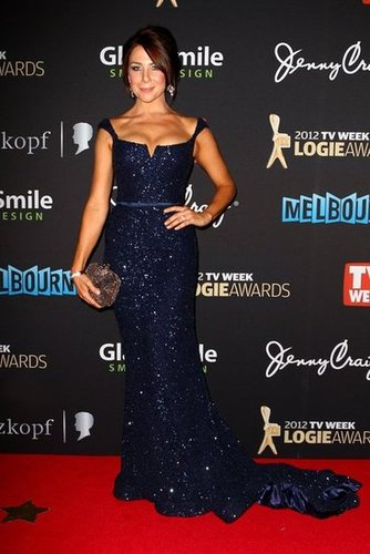 Pictures of Kate Ritchie on the 2012 Logies Red Carpet in Navy Sequinned Steven Khalil Dress: Rate It or Hate It?