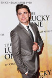 Zac Efron posed for photos at the premiere.