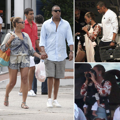 Beyonce Knowles and Jay-Z St Barts Pictures With Blue Carter