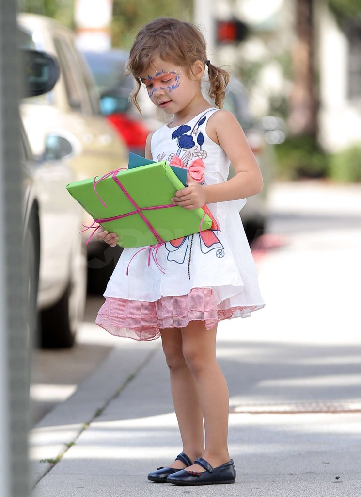 Honor Warren looked cute in pigtails in Santa Monica.