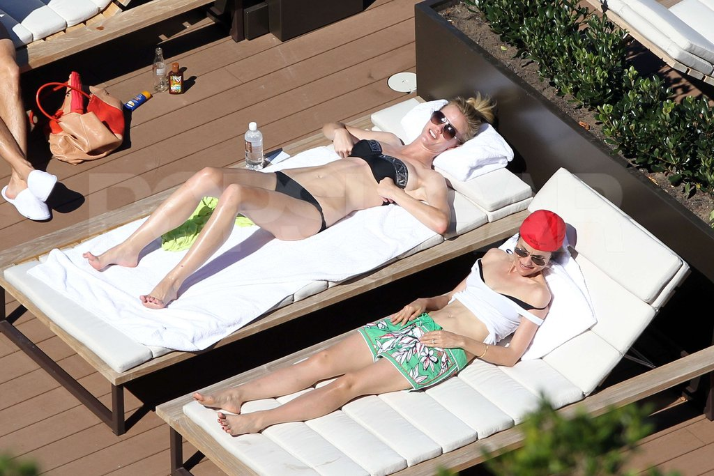 Brooklyn Decker wore her bikini to a pool with a friend in Australia.