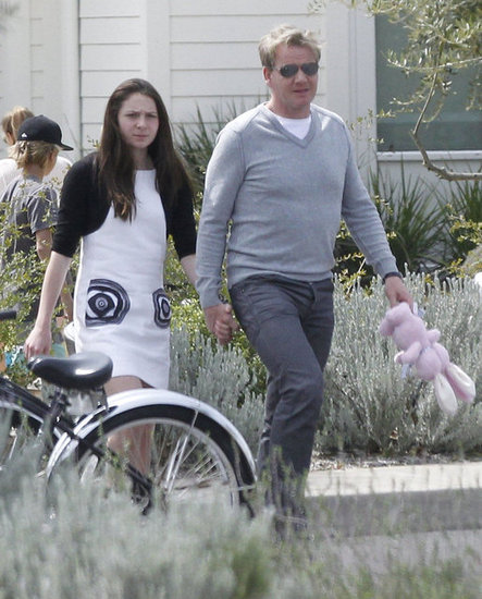 Gordon Ramsay spent time with the Beckhams and his own family for Easter.