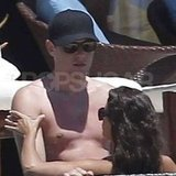 Cory Monteith and Lea Michele got close in the pool in Cabo.