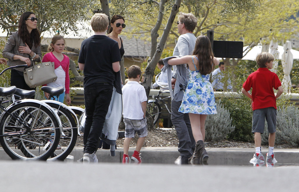 Victoria Beckham and David Beckham in Napa for Easter with the Ramsay family.