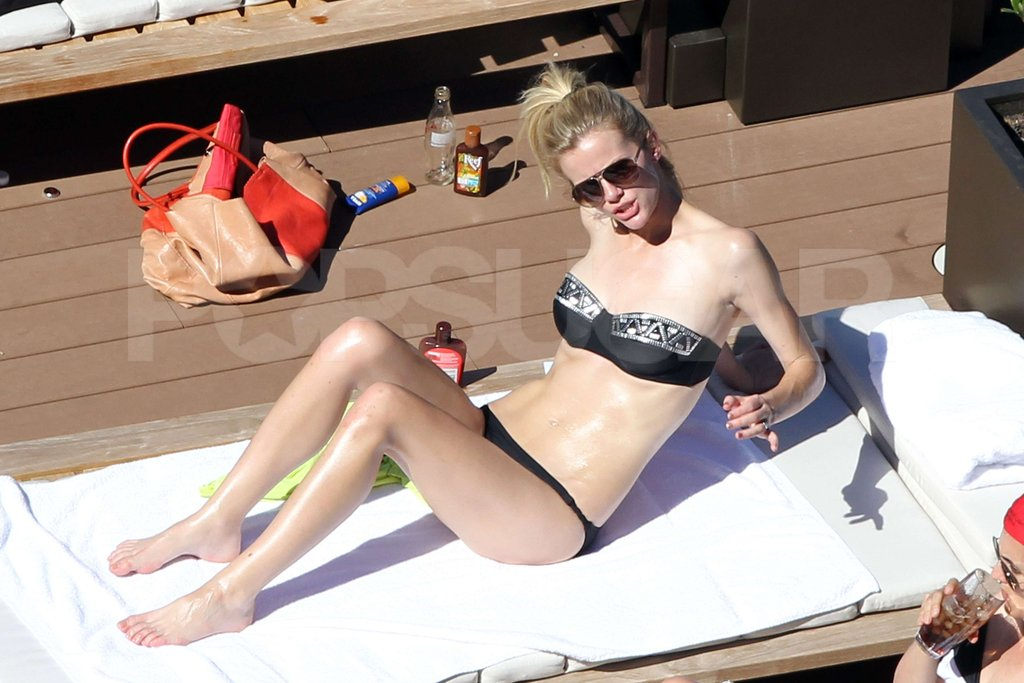 Brooklyn Decker in a black bikini in Australia.