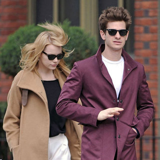 Emma Stone and Andrew Garfield Walking in NYC Pictures