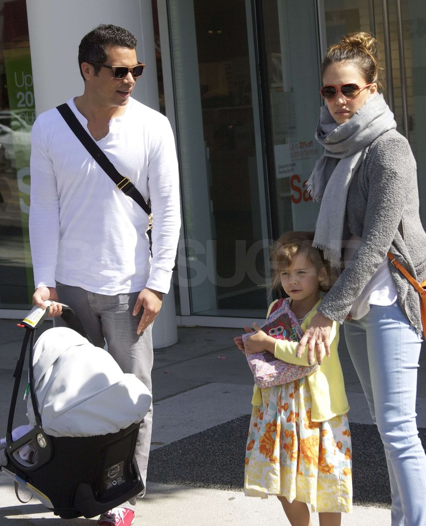 Jessica Alba and her family spent Easter in LA.