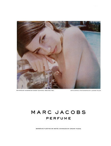 For his Spring 2002 perfume ad, he enlisted his longtime friend Sofia Coppola to do the modeling honors. The laid-back lighting paired with Sofia topless in a pool made for one subtly racy shot.