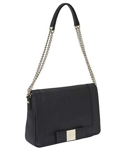 A square-shaped bow offers up a chicer finish, and on this sleek black shoulder bag, it adds the perfect refined touch to an everyday must have. Kate Spade New York Primrose Hill Kaelin Bow Flap Shoulder Bag ($378)