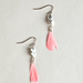 The burst of bright pink adds a fresh spin to this feathered version.