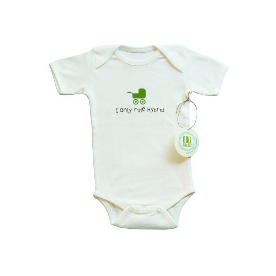Obli Organics' Baby Ride Hybrid Stroller Onesie ($12, originally $26) is affordable and eco-conscious. It's organic and fair-trade and contains non-PVC prints.