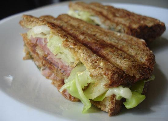Ham and Cabbage Reuben
