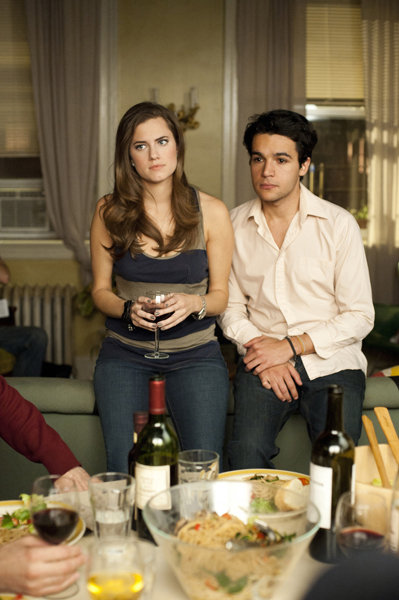 Allison Williams and Chris Abbott in Girls. Photo courtesy of HBO