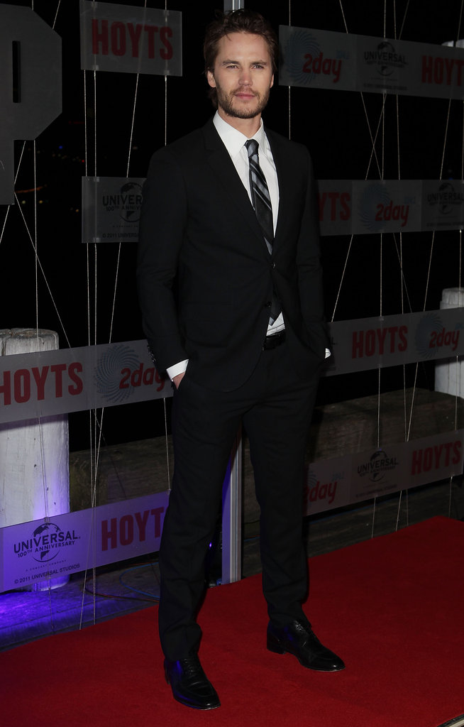 Taylor Kitsch was looking dapper at the Battleship premiere in Sydney.