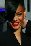 Rihanna wore oversize hoop earrings to the Battleship premiere in Sydney.
