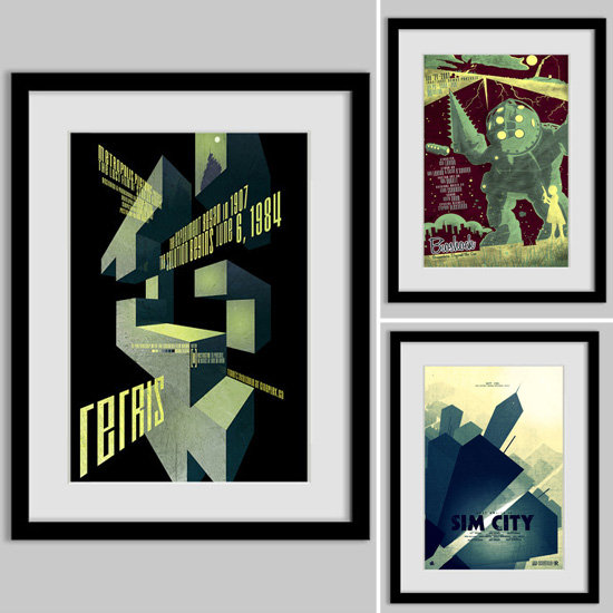 Score Big With These Vintage-Inspired Video Game Movie Posters