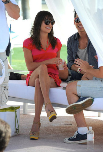 Lea Michele chilled out in 2011.