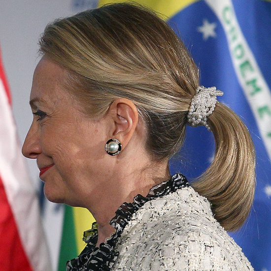 Hilary Clinton's People Are Trying to Faze Out the Scrunchies
