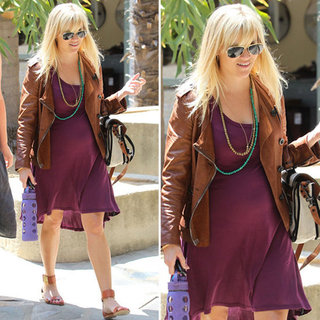 Reese Witherspoon Eggplant Dress