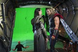 Tom Hiddleston as Loki and Chris Hemsworth as Thor in The Avengers.  Photo courtesy of Disney