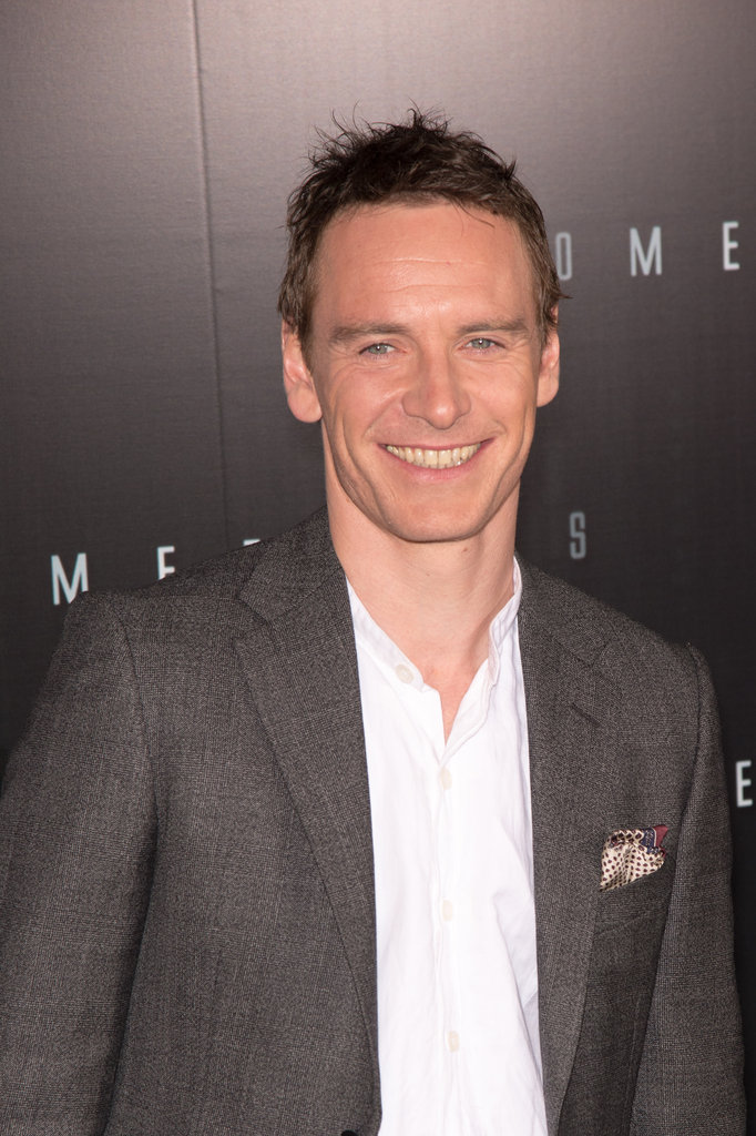 Michael Fassbender wore a pocket square to the Prometheus premiere in Paris.