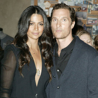 Matthew McConaughey and Camila Alves Noir Brazil Pictures