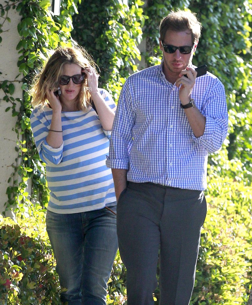 Will Kopelman and Drew Barrymore walked in their LA neighborhood in April 2012.