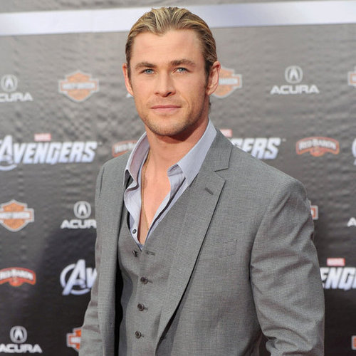 Hot Chris Hemsworth Pictures at The Avengers World Premiere in LA