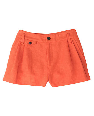 Offset the preppy vibe of this pair with a chambray button-down and a pair of taupe booties.  Rag & Bone Tennis Shorts ($275)