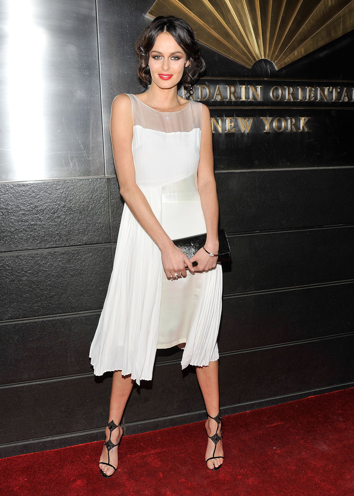 We love Nicole Trunfio's simple, yet stunning white dress by Max Mara.