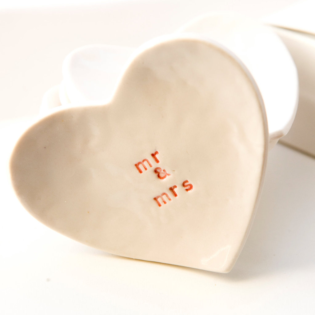 Mr. & Mrs. Porcelain Ring Dish ($33)
