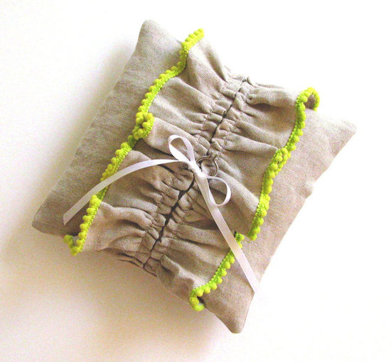 Chartreuse Lime and Linen Pillow ($47)