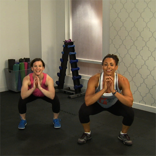Tabata Workout Mixing Squats and Push-Ups