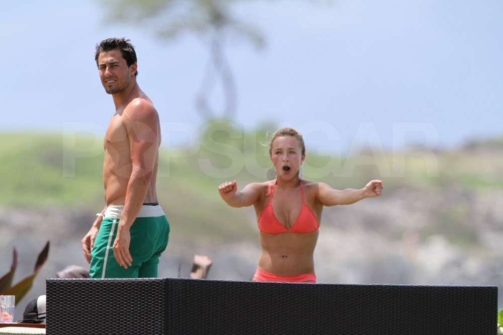 Hayden Panettiere had some fun with boyfriend, New York Jets wide receiver, Scotty McKnight, wearing a bikini while vacationing in Hawaii.