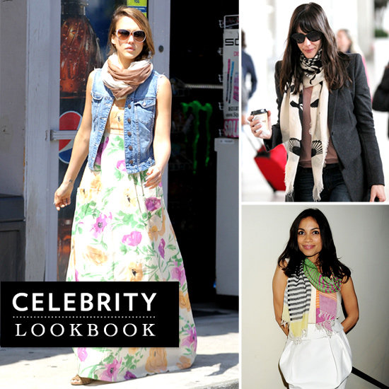 Prints Charming: Celebrities Show Off Their Pretty Patterned Scarves