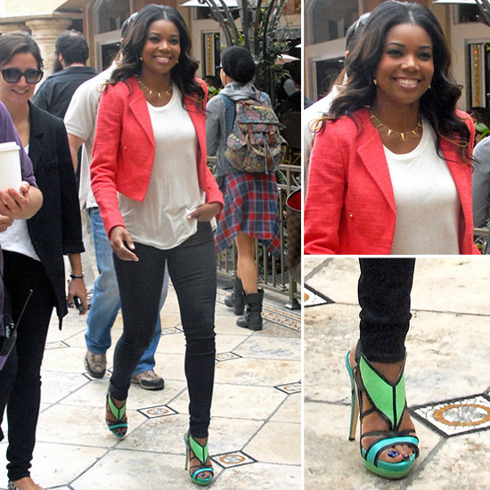 10 Bright Statement Sandals Inspired by Gabrielle Union's Aqua Pair!