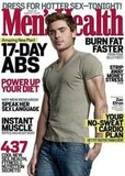 Zac Efron on the cover of Men's Health's May issue.