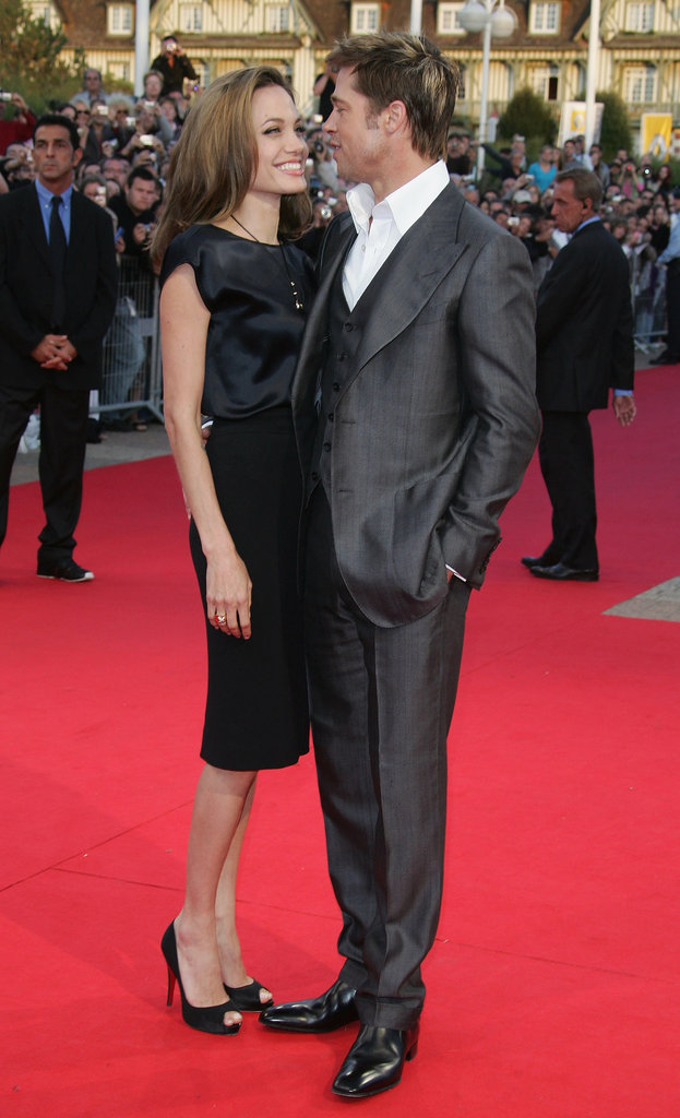 Brad Pitt und Angelina Jolie beim 33rd Deauville American Film Festival zur Premiere von The Assassination of Jesse James im September 2007.