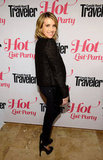 Emma Roberts wore all black to the Condé Nast Traveler Hot List Party in LA.