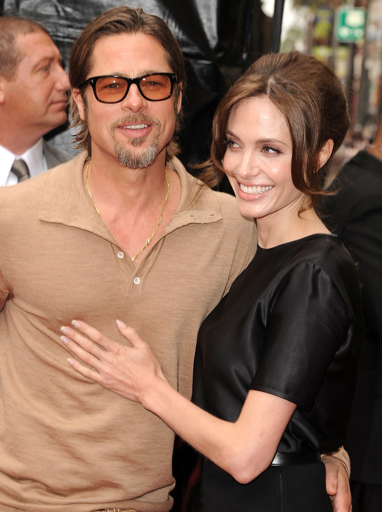 Brad Pitt joined Angelina Jolie at her May 2011 LA premiere of Kung Fu Panda 2.