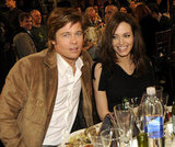 Angelina Jolie and Brad Pitt sat side by side at the February 2008 Independent Spirit Awards