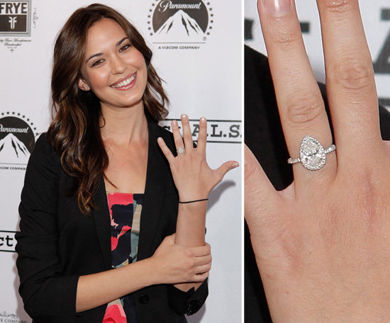 Odette Annable engagement ring